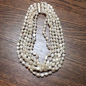 Pearl necklace with six strands! NWOT